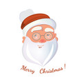 santa claus face isolated on white background vector image