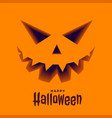 scary ghost face in 3d style halloween background vector image vector image