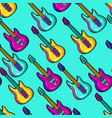 seamless pattern with cartoon musical electric vector image