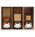 Three coffee design templates vector image vector image