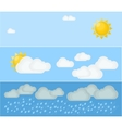 Three kinds of summer day weather vector image vector image