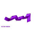 violet realistic silk ribbon vector image vector image