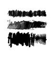 watercolor vertical hatch brushes set vector image