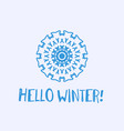 winter greeting card with geometric ornament and vector image