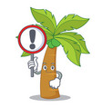 with sign palm tree character cartoon vector image