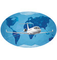 world air journey vector image vector image