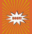 yellow orange rays cartoon burst explosion vector image