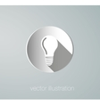 icon paper lamps vector image