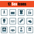 Set of sex icons vector image