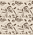carpentry tools seamless pattern design vector image