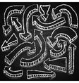 Chalkboard design elements Arrows vector image