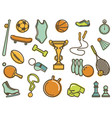 vintage sports icons vector image
