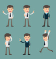 cartoon of a handsome young businessman in vector image
