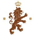 lion emblem vector image