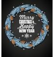 Spruce christmas wreath vector image