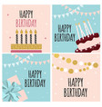 abstract happy birthday background card template vector image