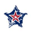 American flag star grunge element symbol vector image vector image