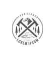 axe adventure logo vector image vector image