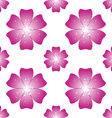Beautiful pink flower Seamless floral pattern vector image vector image