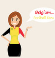 belgium football fanscheerful soccer fans sports vector image vector image
