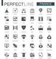 black classic web finance money web icons set vector image vector image