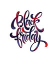 black friday paint hand writting calligraphi vector image