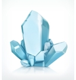 Blue crystal icon vector image