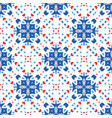 blue flower pattern boho background vector image vector image