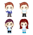 Boys and Girl with fever and face vector image