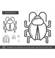 Bug fixing line icon vector image