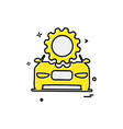 car workshop icon design vector image vector image