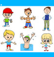 cartoon children characters set vector image