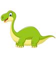 Cartoon cute dinosaur vector image vector image