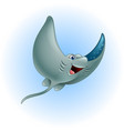 cartoon funny stingray vector image