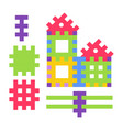 childish toy composed small details to build vector image vector image