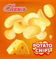 chips cheese advertising package design vector image vector image