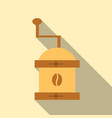 coffee grinder isolated on background retro vector image vector image