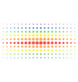 cog spectral halftone pattern vector image vector image