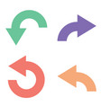 colored flat arrows vector image