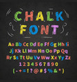 colorful retro hand drawn alphabet letters drawing vector image vector image