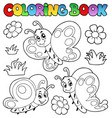 coloring book with butterflies 2 vector image vector image