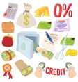 Credit icons set cartoon style vector image