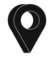 destination icon simple style vector image vector image