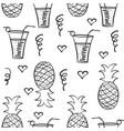 doodle of juice hand draw vector image vector image