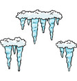 doodle set icicles vector image