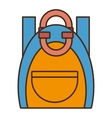 drawing blue and yellow bag student school vector image vector image