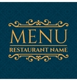 Elegant Restaurant Menu design vector image
