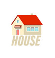 family house icon isolated design vector image vector image