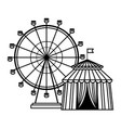 Ferries wheel icon black and white