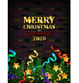 festive christmas and new year 2020 vector image vector image